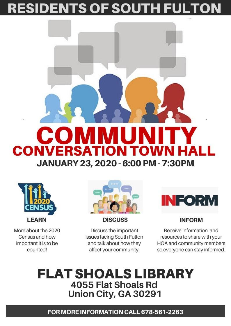 Town Hall for City of South Fulton Residents